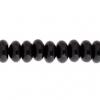 Black Onyx 8mm Rondelle (Flat Round) 35pcs Approx